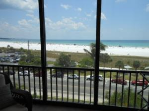 Verandah over looking Siesta Key Public Beach and the Gulf of Mexico