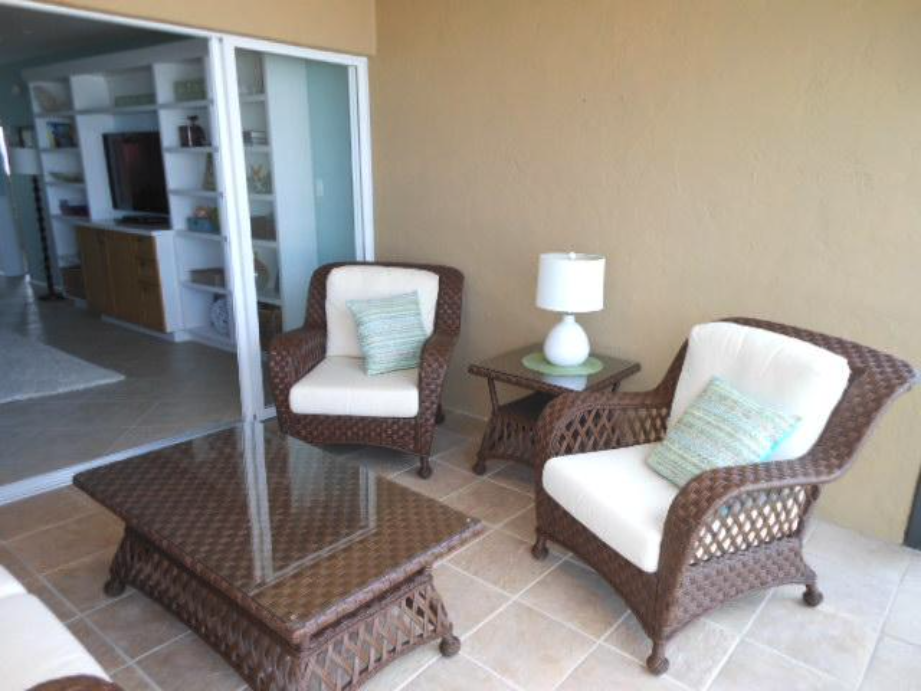 Patio furniture on fifth floor verandah