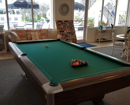 Clubhouse of Crescent Royale Condominiums with pool table