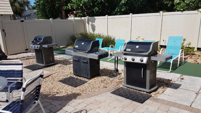 Tables & BBQ grills are for the exclusive use of Crescent Royale Condos