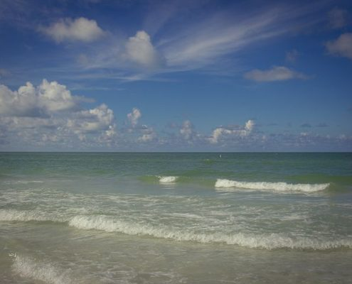 View of Siesta Key Beach the number one beach in the USA in the day