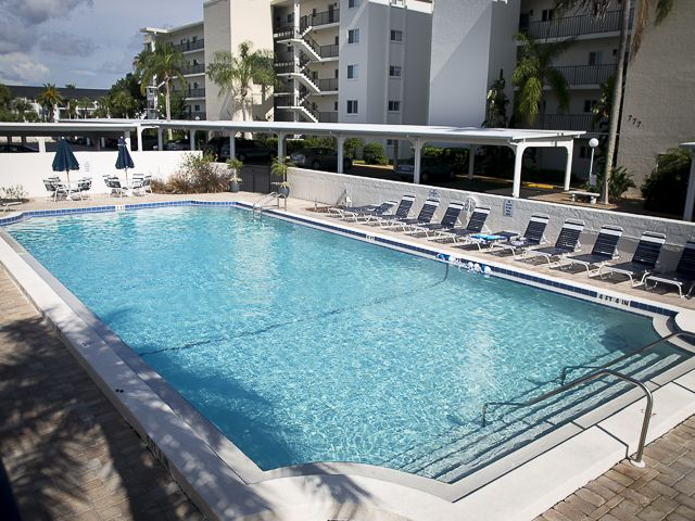 View of pool at Crescent Royale Condos