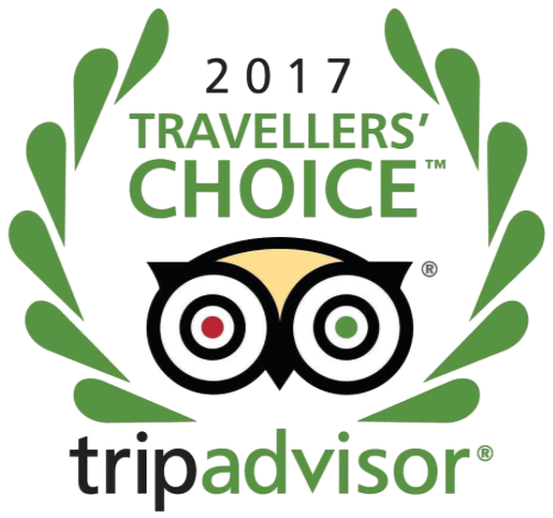 2017 Travelers' Choice award from TripAdvisor